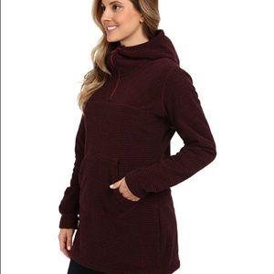 mountain hardwear toasty stripe tunic hoodie L